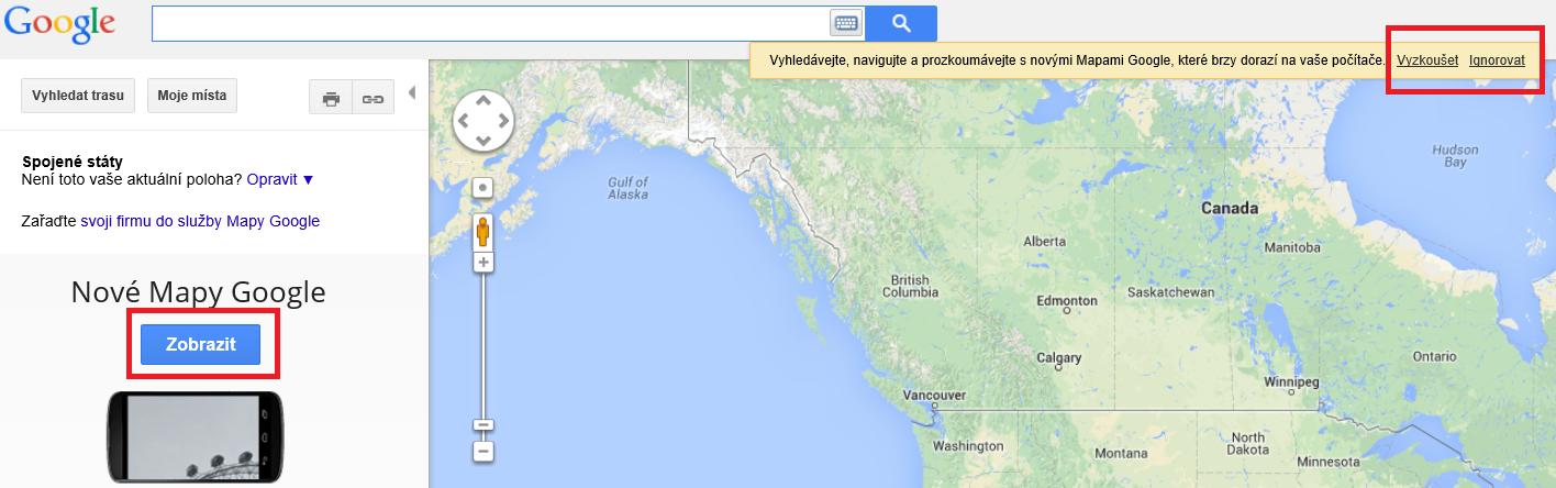 Aktivace nových Google map