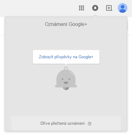 Google Chrome zvoneček