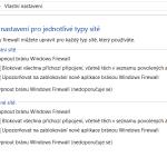 Nastavení Firewall Firewall