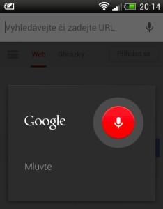 Vyhledávání hlasem na mobilu s OS Android