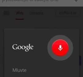 Vyhledávání hlasem na mobilu