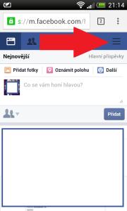 Vypnutí Facebook chatu na mobilu