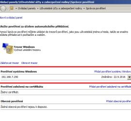 Pověření systému Windows